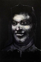 """Small Head Monotype with oil 24.5 x 17"""""""
