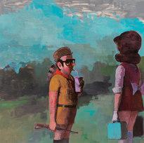 """Moonrise Kingdom Cosplay Acrylic on panel 36 x 48"""""""