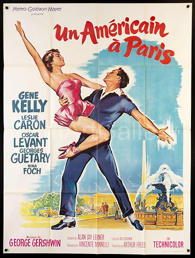 an-american-in-paris-vintage-movie-poste