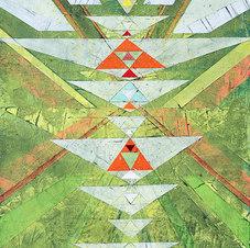 "Flight Path Acrylic on canvas 70 x 56"""