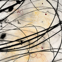 """Palo Verde Azul 6 Charcoal, cochineal, earth, ink, graphite 45 x 33"""" SD 1031"""
