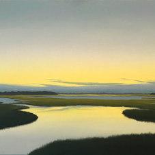 """Tidal Pool - Dawn Oil on canvas 16 x 20"""" JC 1094"""