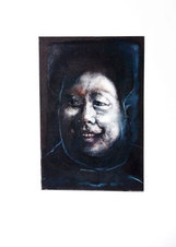"Headshot Series: Monotype 92 Monotype with oil 15 x 11"""