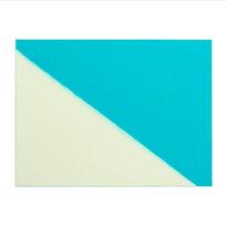 """Split, Cyan. #03-19-04 Unique Print. Oil monotype on Rives BFK paper 27.5 x 30.25"""" paper dimensions 18 x 24"""" image dimensions BM 1016"""