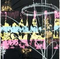 """Pretty don't make you perfect... you only see the surface Mixed media on paper 30 x 22"""" MIM 1088"""