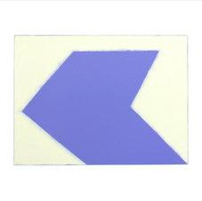 """Structure, Violet. #03-19-08 Unique Print. Oil monotype on Rives BFK paper 27.5 x 30.25"""" paper dimensions 18 x 24"""" image dimensions  BM 1019."""