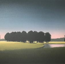 """Darkening Oil on canvas 24 x 30"""" JC 1097"""