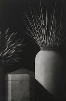 """Nocture: Still Life with Two Vases, Ed. XI/XII AP Mezzotint 13 x 19.5"""""""