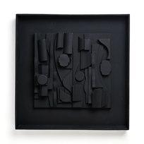 "Symphony Three Sculpture, resin 18.25 x 18.25 x 2"" LNV 1017"