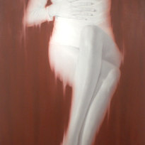 """Untitled Oil on canvas 82 x 38"""" SL 1015"""