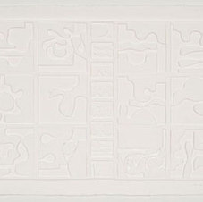 "Dawn's Clouds White cast paper relief Edition 66/75 27 3/8 x 39"" LNV 1019"
