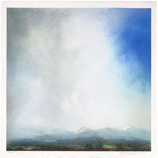"Arapahoe County Dry pigment on paper. 33.5 x 33.5"" LAG 1118"