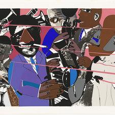 """Jazz II, Artist Proof Screenprint 26.75 x 37.5""""  RB 1033"""
