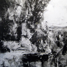 The Shepherdess Monotype on paper 29 x 26""