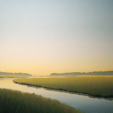 """Late Day - Tidal Creek Oil on canvas 40 x 30"""" JC 1091"""