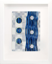 """Assembled Knowing Four Porcelain and mixed media 11 x 9"""" DAJ 1038"""