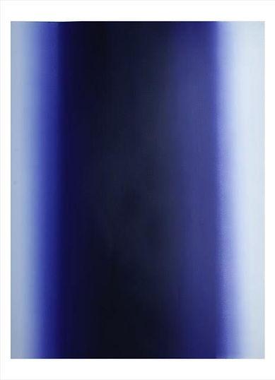 Illumination, Ultramarine. #07-16-02. Unique Print.