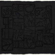 "Nightscape Black cast paper relief Edition 13/75 27 x 31"" LNV 1020"