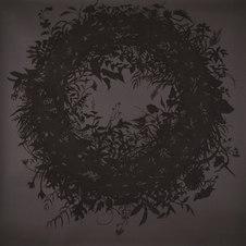 "Wreath No. 2, Silhouette Pastel on black paper 60 x 59"" ZL 1028"
