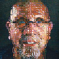 "Self-Portrait 68/80 Silkscreen in 246 colors 69 x 57.75"" CHC 1047"