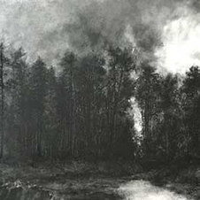 """Divide Powdered charcoal on paper 21 x 48"""""""