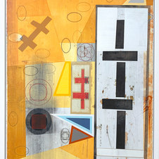 Iterations (Demarcation) Mixed media on paper 32.5 x 24.5 in. MIB 1063