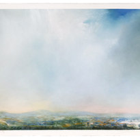 """Rhea County Dry pigment on paper Unframed 22.25 x 30"""" LAG 1115"""