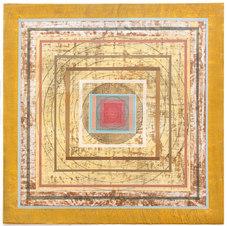 Organic Geometry (Mandala II) Mixed media on paper 22 x 22 in. MIB 1051