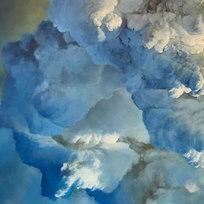 "Suspension (fuzzy thinking) Oil on canvas 48 x 72"" PR 1051"