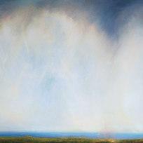 "Ulysses to Montezuma Oil on canvas 53 x 97"" LAG 1135"