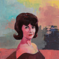 "Natalie (1962) Acrylic on panel 40 x 30"""