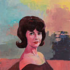 Natalie (1962) Acrylic on panel 40 x 30""