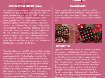 BILINGUAL PROGRAM NEWS - Valentine's Day