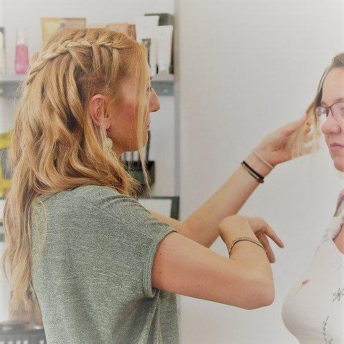 Conseil coiffeur + remise en beauté