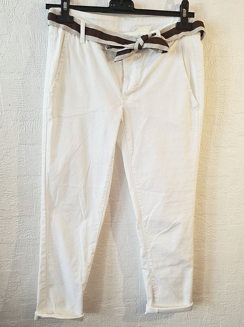 Jean blanc ceinture