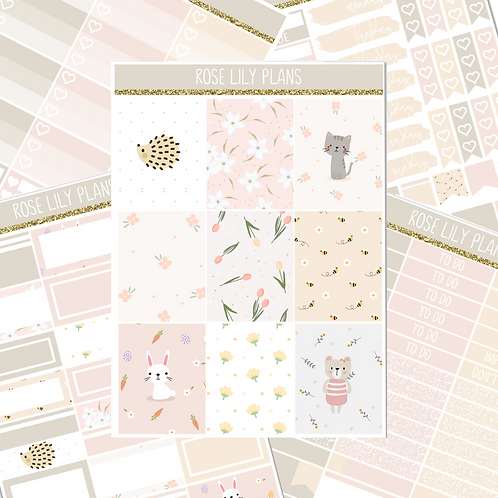 Cute Animals Sticker Kit