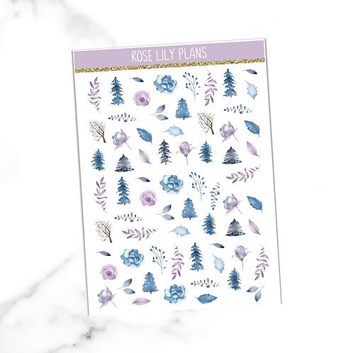 Floral 012 Sticker Sheet