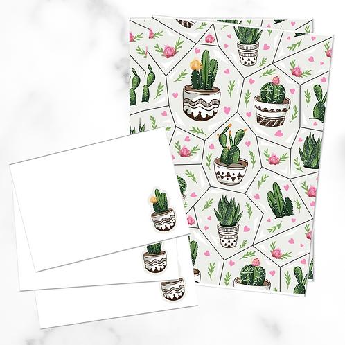 Cacti Pots Writing Set