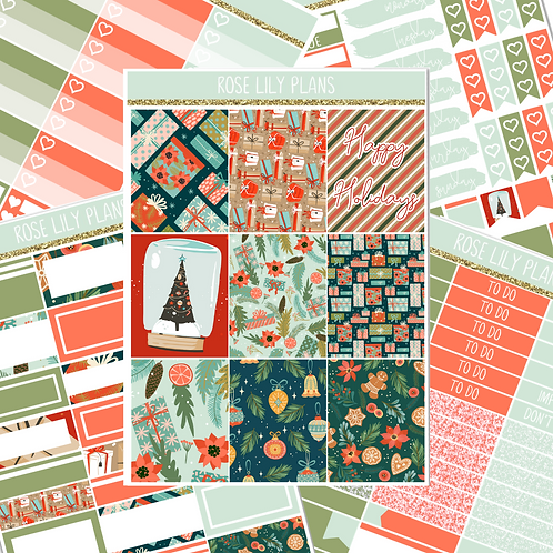 Happy Holidays Sticker Kit