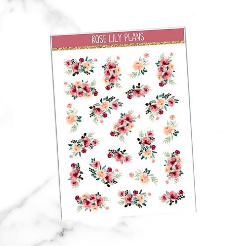Floral 011 Sticker Sheet