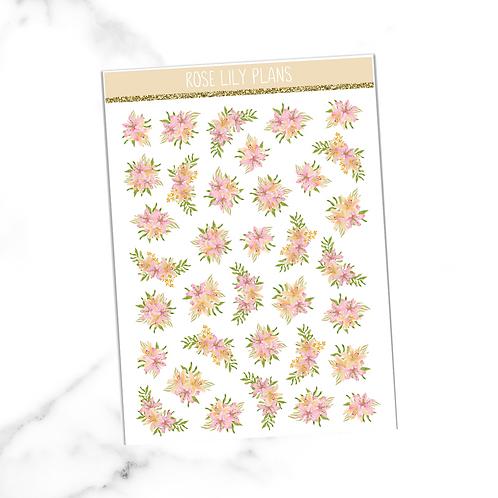 Floral 020 Sticker Sheet