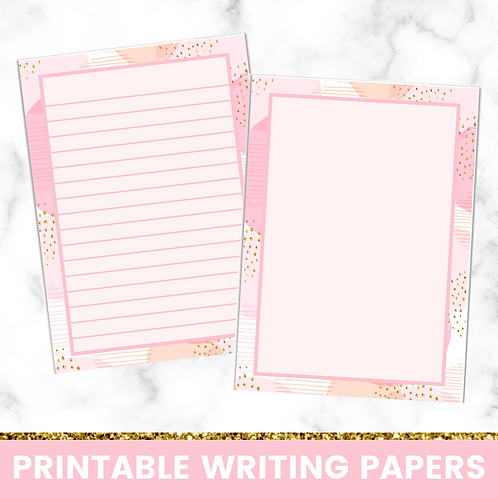 PRINTABLE | Abstract Pink Writing Papers