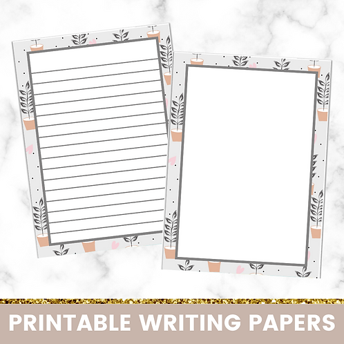 PRINTABLE | Plant Pots Writing Papers