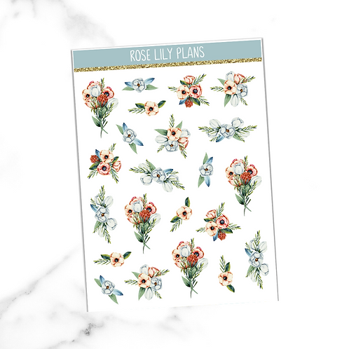Floral 004 Sticker Sheet