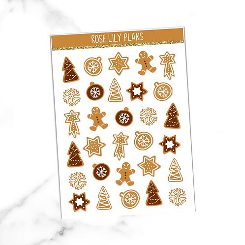 Christmas Cookies Sticker Sheet