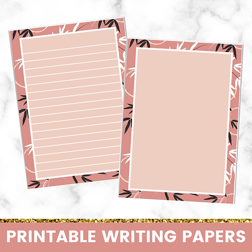 PRINTABLE | Red Plants Writing Papers