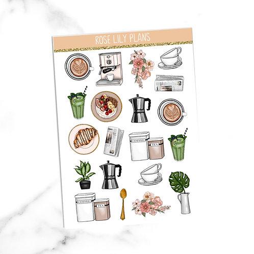 Cafe Au Lait Sticker Sheet
