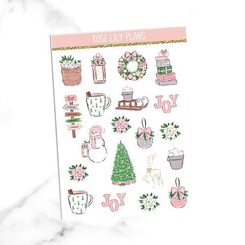 Christmas Lights Sticker Sheet