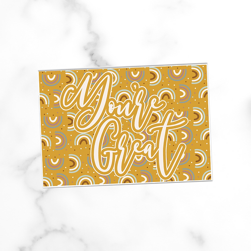 You're Great | Postcard
