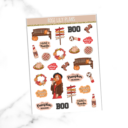 Pumpkin Season Sticker Sheet